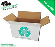 -pack pro de 500 grands cartons (blanc) multi - usages