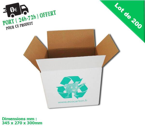Lot de 200 petits cartons d m nagement livres pas cher eco carton - Carton demenagement pas cher ikea ...