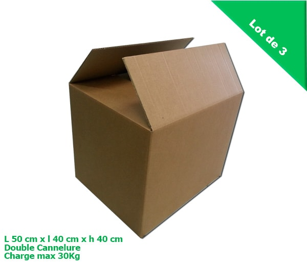 achat carton double cannelures en lot de 3 cartons c 39 est. Black Bedroom Furniture Sets. Home Design Ideas
