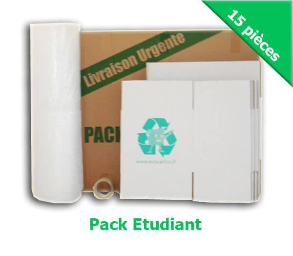 pack d m nagement tudiant pack complet cartons demenagement et accessoires pas cher eco carton. Black Bedroom Furniture Sets. Home Design Ideas