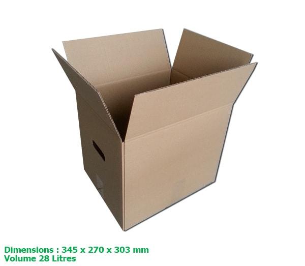 petit carton d m nageur double cannelure r sistant avec poign es eco carton. Black Bedroom Furniture Sets. Home Design Ideas