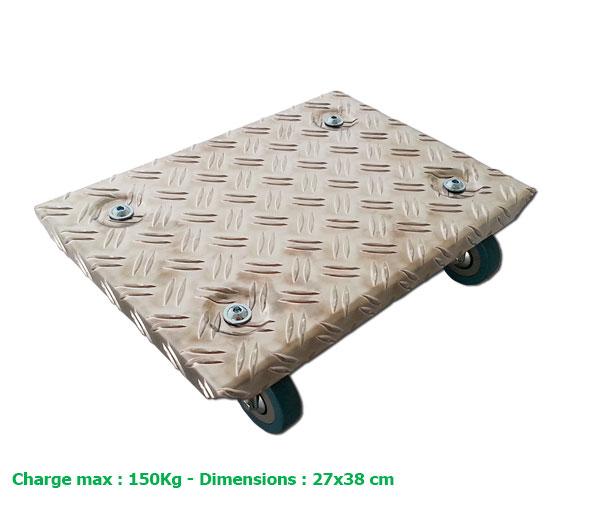 plateau roulant sp cial d m nageur pour charge lourde maxi 150 kg eco carton. Black Bedroom Furniture Sets. Home Design Ideas